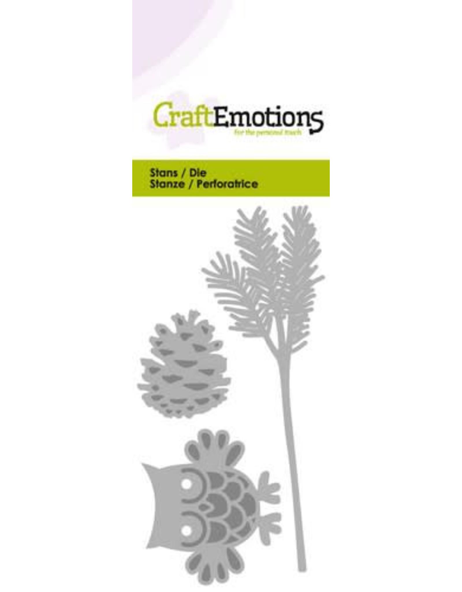 Craft Emotions CraftEmotions Die - uil op dennentak
