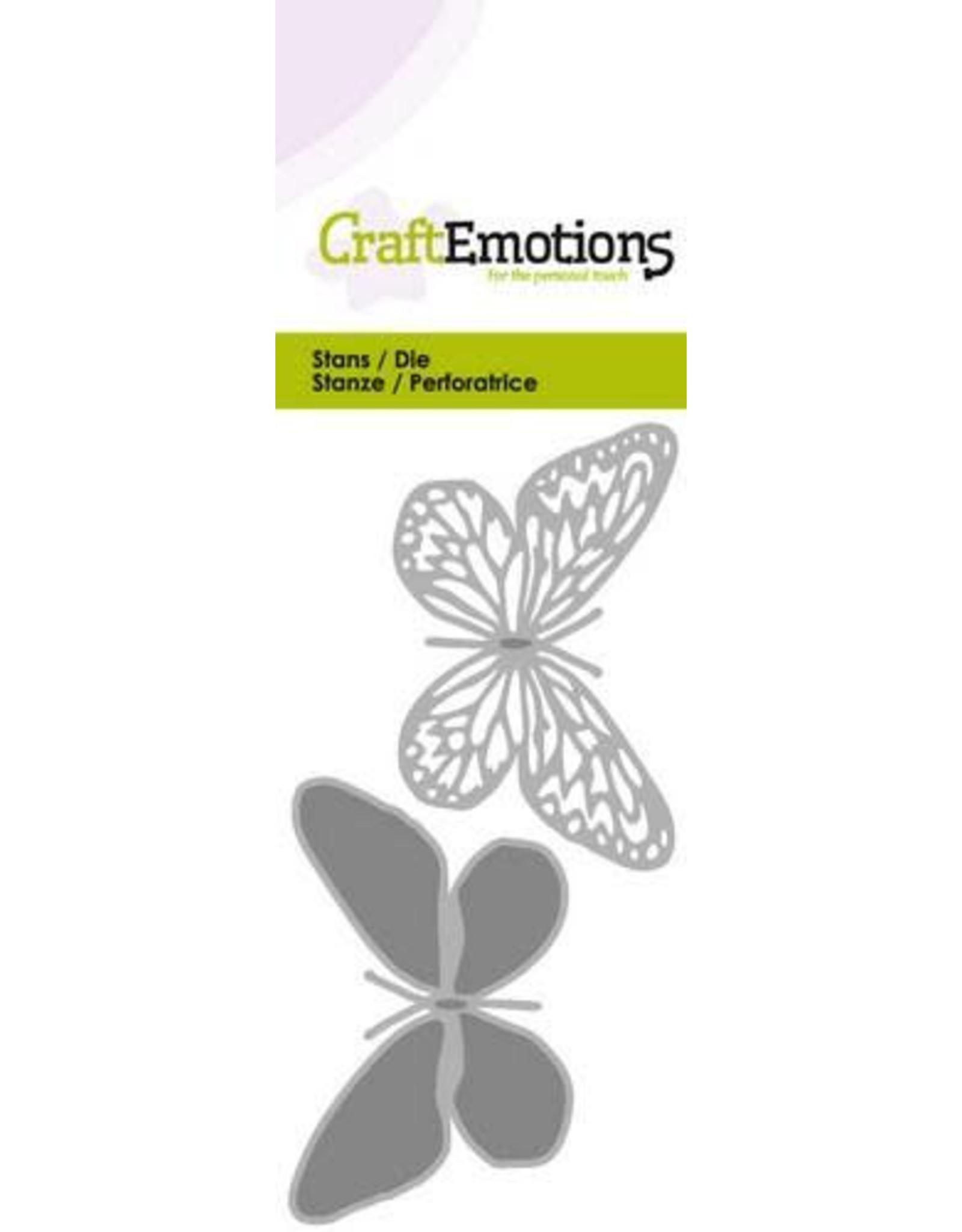 Craft Emotions CraftEmotions Die - vlinder 2x