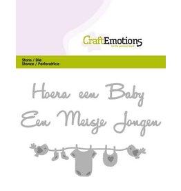 Craft Emotions CraftEmotions Die Tekst - Hoera een baby (NL)