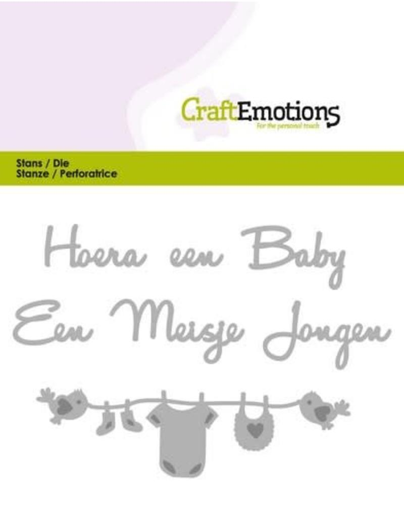 Craft Emotions CraftEmotions Die Tekst - Hoera een baby (NL)