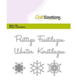 Craft Emotions CraftEmotions Die Tekst - Prettige Feestdagen (NL)