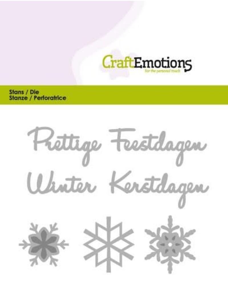 Craft Emotions CraftEmotions Die Tekst - Prettige Feestdagen (NL)