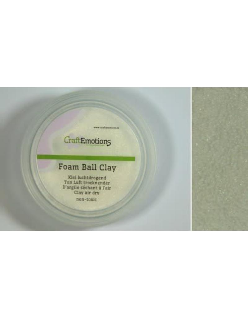 Craft Emotions CraftEmotions Foamball clay - luchtdrogende klei - wit 15gr