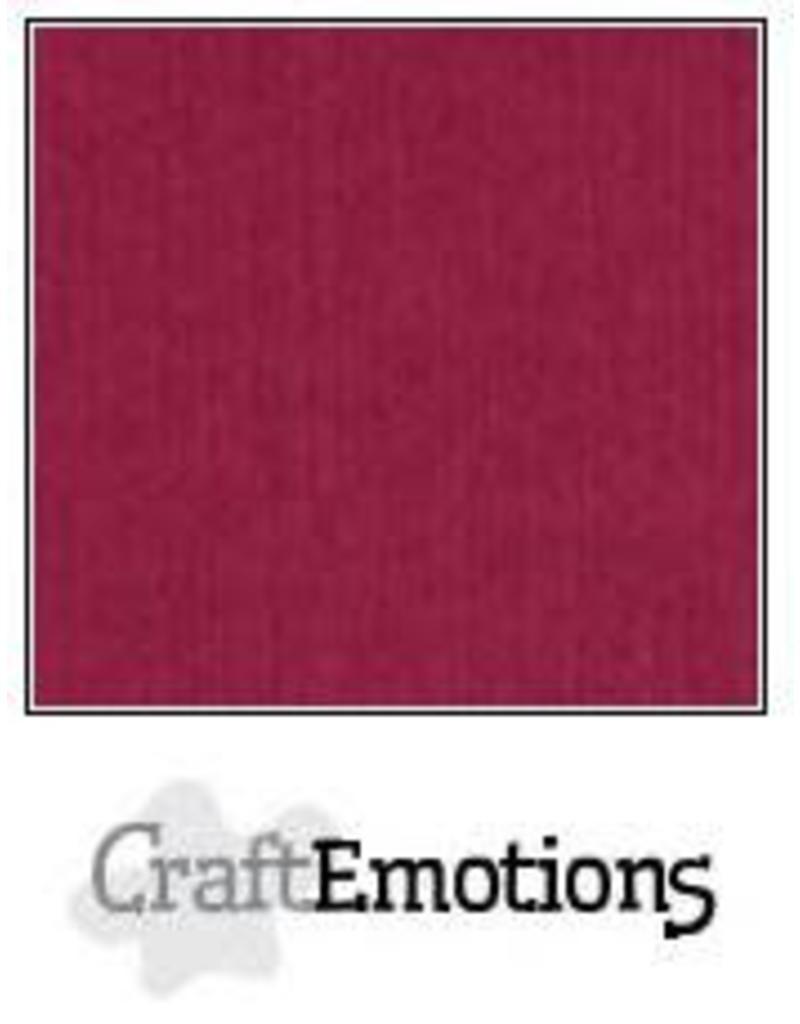 Craft Emotions CraftEmotions linnenkarton  bordeaux 10 vel 27.5 x13.5 cm