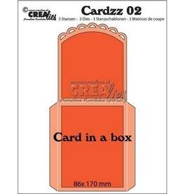 Crealies Crealies Cardzz nr 02 kaart in een doosje nr 02