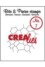 Crealies Crea-nest-dies Crealies Clearstamp Bits&Pieces no. 07 Thin mosaic