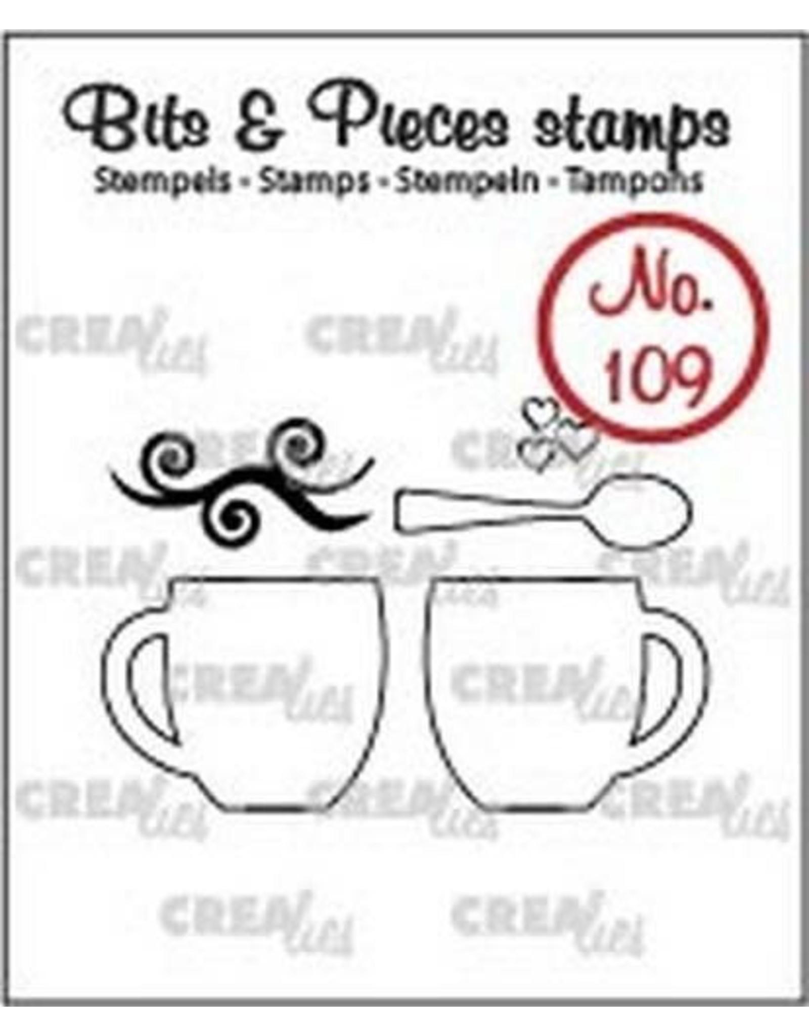 Crealies Crealies Clearstamp Bits&Pieces no. 109 2 mokken + lepel