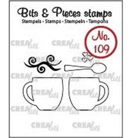 Crealies Crea-nest-dies Crealies Clearstamp Bits&Pieces no. 109 2 mokken + lepel