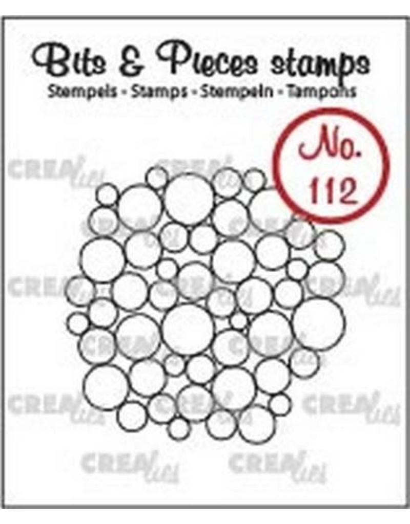 Crealies Crealies Clearstamp Bits&Pieces no. 112 a lot of circles