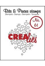 Crealies Crea-nest-dies Crealies Clearstamp Bits&Pieces no. 61 open hartjes