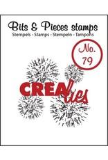Crealies Crea-nest-dies Crealies Clearstamp Bits&Pieces no. 79 4x grunge circles