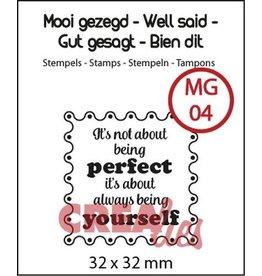 Crealies Crealies Clearstamp Mooi gezegd (UK) no. 4 perfect