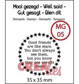 Crealies Crealies Clearstamp Mooi gezegd (UK) no. 5 stars