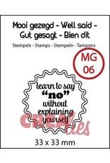 Crealies Crealies Clearstamp Mooi gezegd (UK) no. 6 learn to say no
