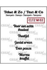 Crealies Crealies Clearstamp Tekst & Zo Mini tekst thee A (NL)