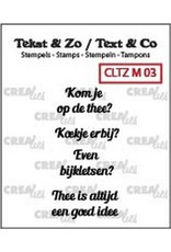 Crealies Crea-nest-dies Crealies Clearstamp Tekst & Zo Mini tekst thee B (NL)