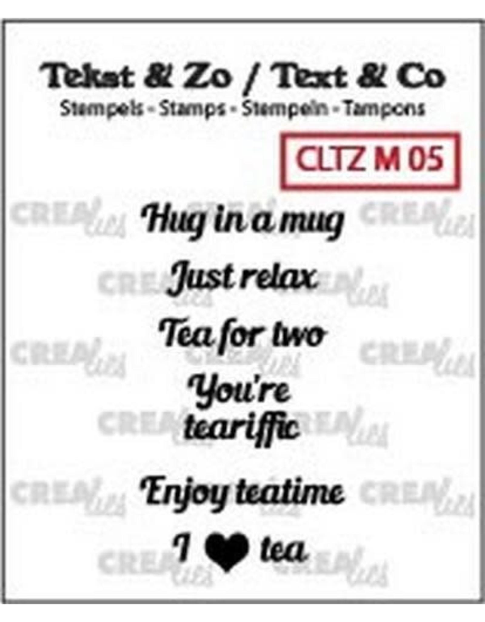 Crealies Crealies Clearstamp Tekst & Zo Tiny text tea B (ENG)
