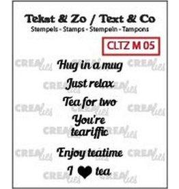 Crealies Crea-nest-dies Crealies Clearstamp Tekst & Zo Tiny text tea B (ENG)