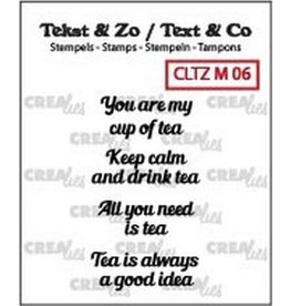 Crealies Crea-nest-dies Crealies Clearstamp Tekst & Zo Tiny text tea C (ENG)