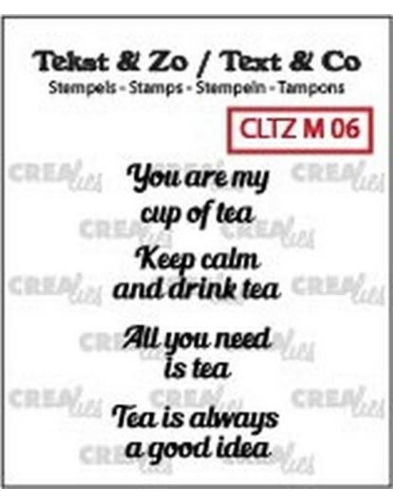 Crealies Crealies Clearstamp Tekst & Zo Tiny text tea C (ENG)