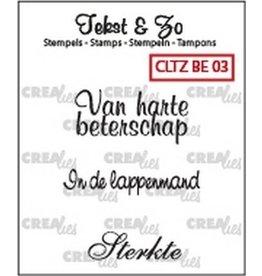 Crealies Crea-nest-dies Crealies Clearstamp Tekst&Zo Beterschap 3 (NL)