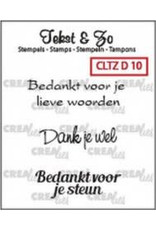 Crealies Crealies Clearstamp Tekst&Zo Divers 10 (NL)