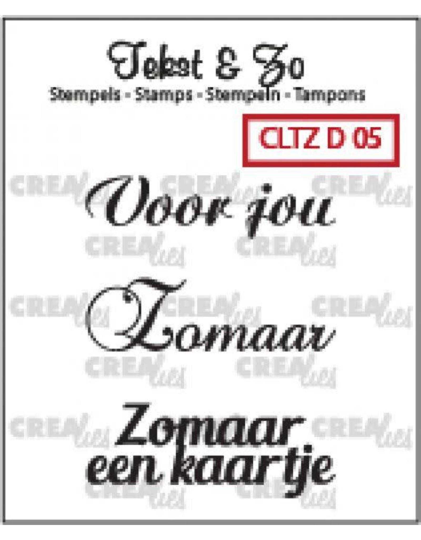Crealies Crealies Clearstamp Tekst&Zo Divers 5 (NL)