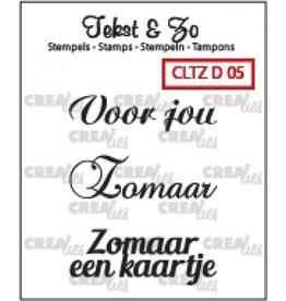 Crealies Crea-nest-dies Crealies Clearstamp Tekst&Zo Divers 5 (NL)