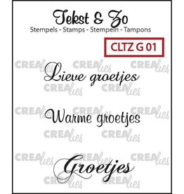 Crealies Crealies Clearstamp Tekst&Zo Groetjes 1 (NL)