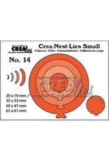 Crealies Crealies Crea-nest-dies small no. 14  4x ballon rond