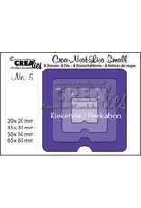 Crealies Crealies Crea-nest-dies small no. 5 Kiekeboe vierkant