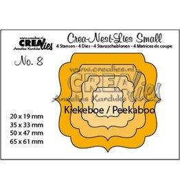 Crealies Crealies Crea-nest-dies small no. 8 Kiekeboe ornament vierkant