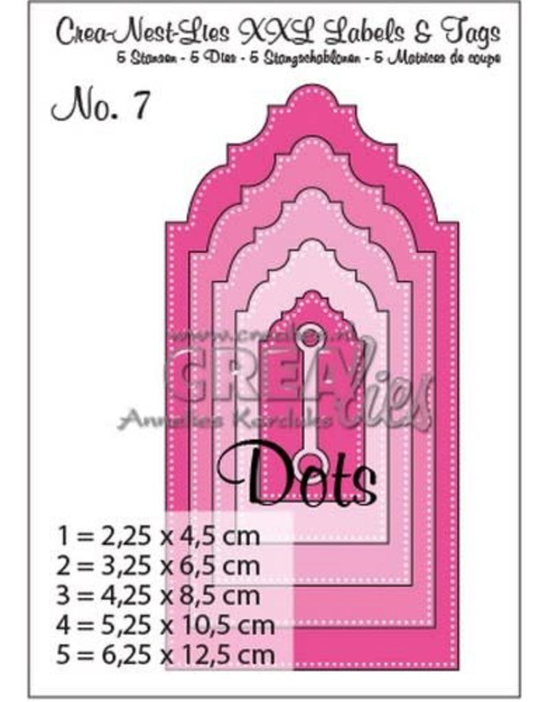 Crealies Crea-nest-dies Crealies Crea-nest-dies XXL no. 7 Labels and tags with dots