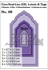 Crealies Crea-nest-dies Crealies Crea-nest-dies XXL no. 9 Labels and tags with dots