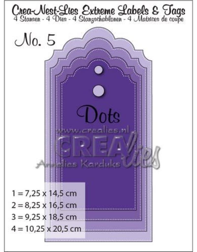 Crealies Crea-nest-dies Crealies Crea-nest-lies Extreme labels&tags no 5 with dots