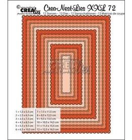 Crealies Crea-Nest-Lies XXL no 72 Rectangles with open scallop