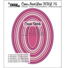 Crealies Crealies Crea-Nest-Lies XXL no 75 kruissteek ovaal