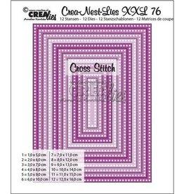 Crealies Crealies Crea-Nest-Lies XXL no 76 kruissteek rechthoek