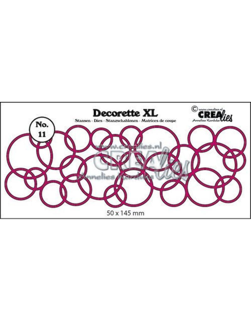 Crealies Crea-nest-dies Crealies Decorette XL no. 11 In elkaar grijpende cirkels