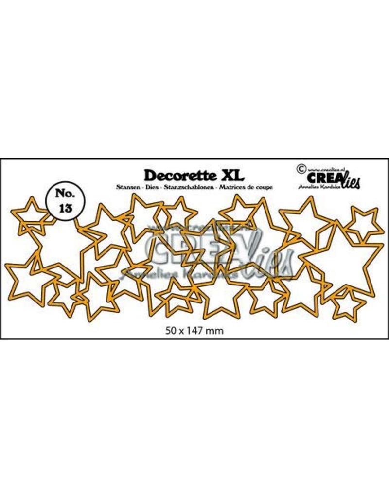 Crealies Crea-nest-dies Crealies Decorette XL no. 13  sterren