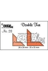 Crealies Crea-nest-dies Crealies Double Fun no. 28 Hoekjes met stitch (voor vierk/rechth)