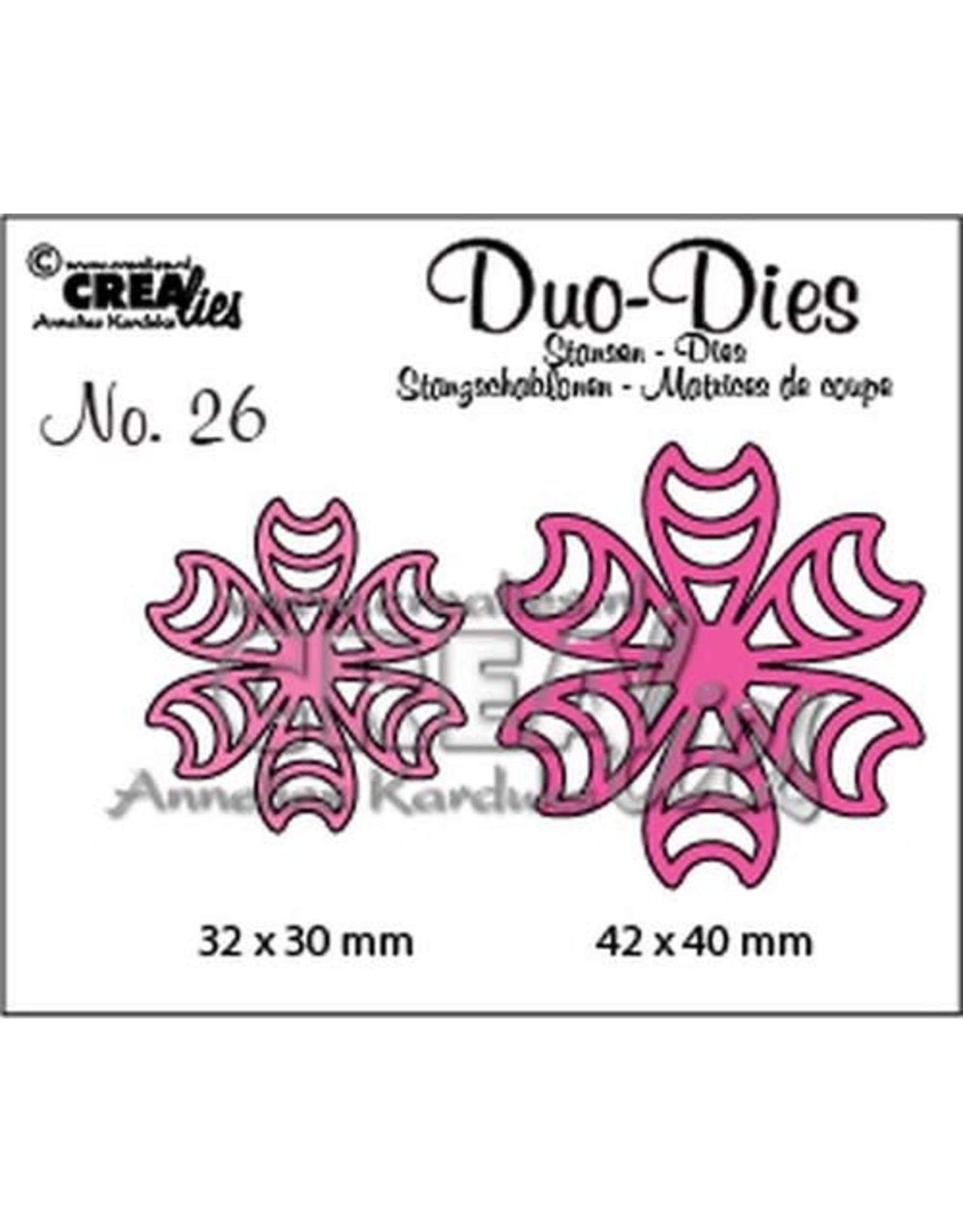 Crealies Crealies Duo Die no. 26 Flowers 16