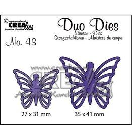 Crealies Crea-nest-dies Crealies Duo Dies no. 43 Vlinders 5