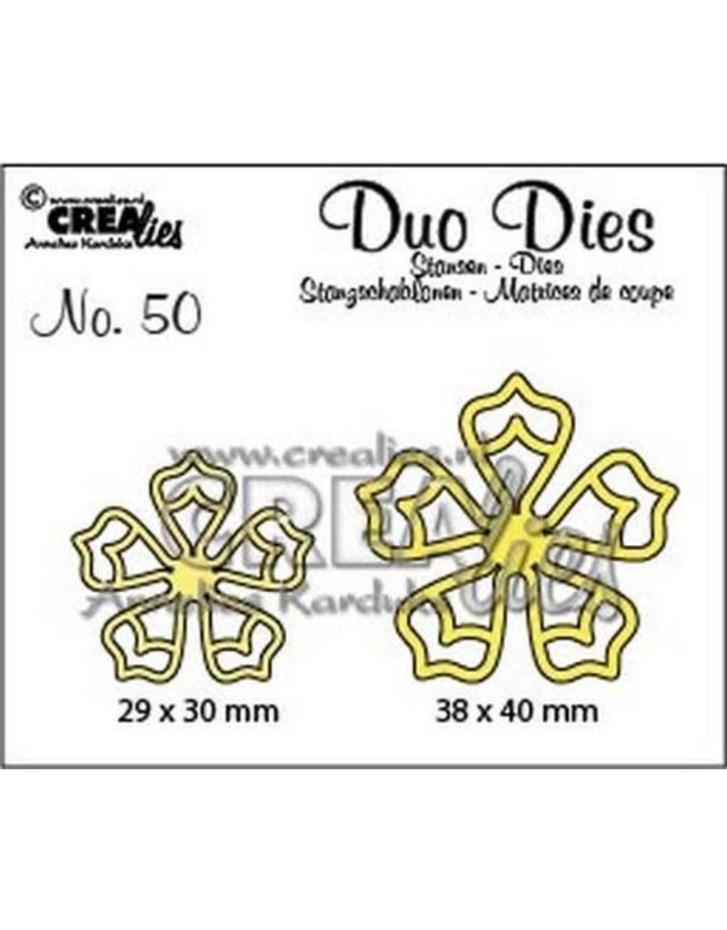 Crealies Crea-nest-dies Crealies Duo Dies no. 50  bloemen 21