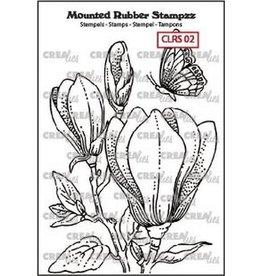 Crealies Crealies Mounted Rubber Stampzz no. 2 Magnolia
