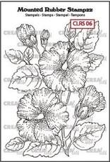 Crealies Crealies Mounted Rubber Stampzz no. 6 Hibiscus