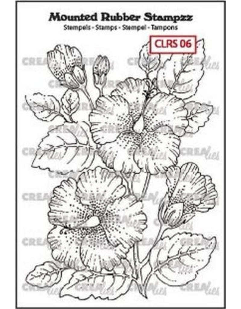 Crealies Crea-nest-dies Crealies Mounted Rubber Stampzz no. 6 Hibiscus