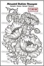 Crealies Crea-nest-dies Crealies Mounted Rubber Stampzz no. 8 Klaproos