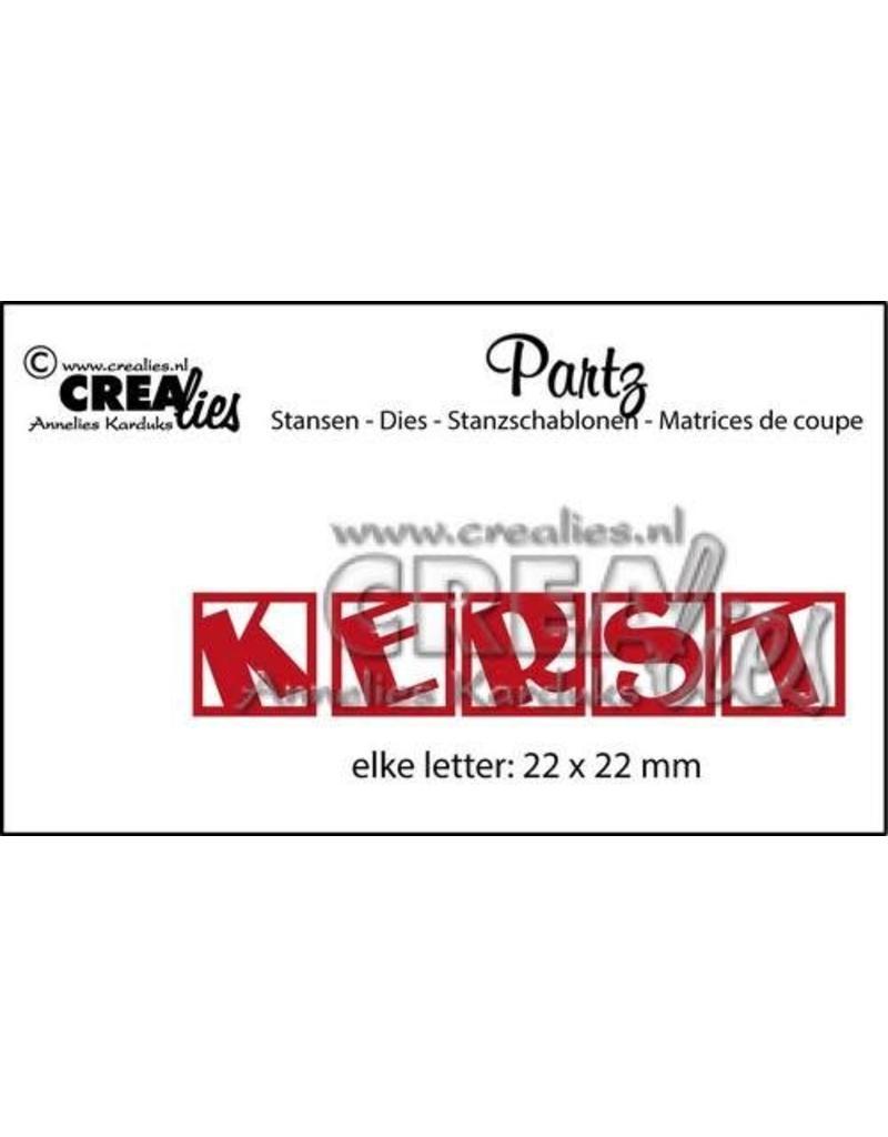 Crealies Crea-nest-dies Crealies Partz no. 1 letters KERST