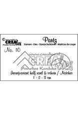 Crealies Crea-nest-dies Crealies Partz no. 10 Insnijvariant half rond&schuin/Notches